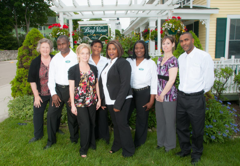 Bay View Staff,  Chef Rose, Becky our inn manager, front desk, dining and housekeeping staff. Here to serve you!